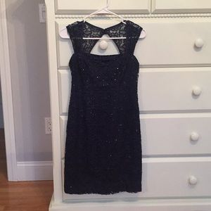 Navy Lace&Sequin Dress